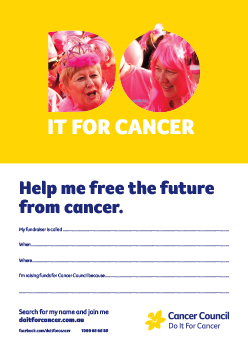 Fundraising Poster Pink