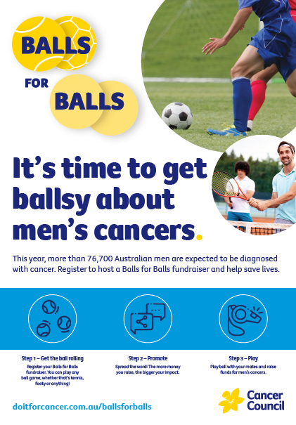 Balls for Balls Promotional Poster A3