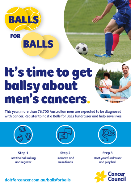 Balls for Balls Promotional Poster A5