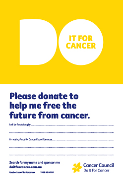 Do It For Cancer Donate Poster