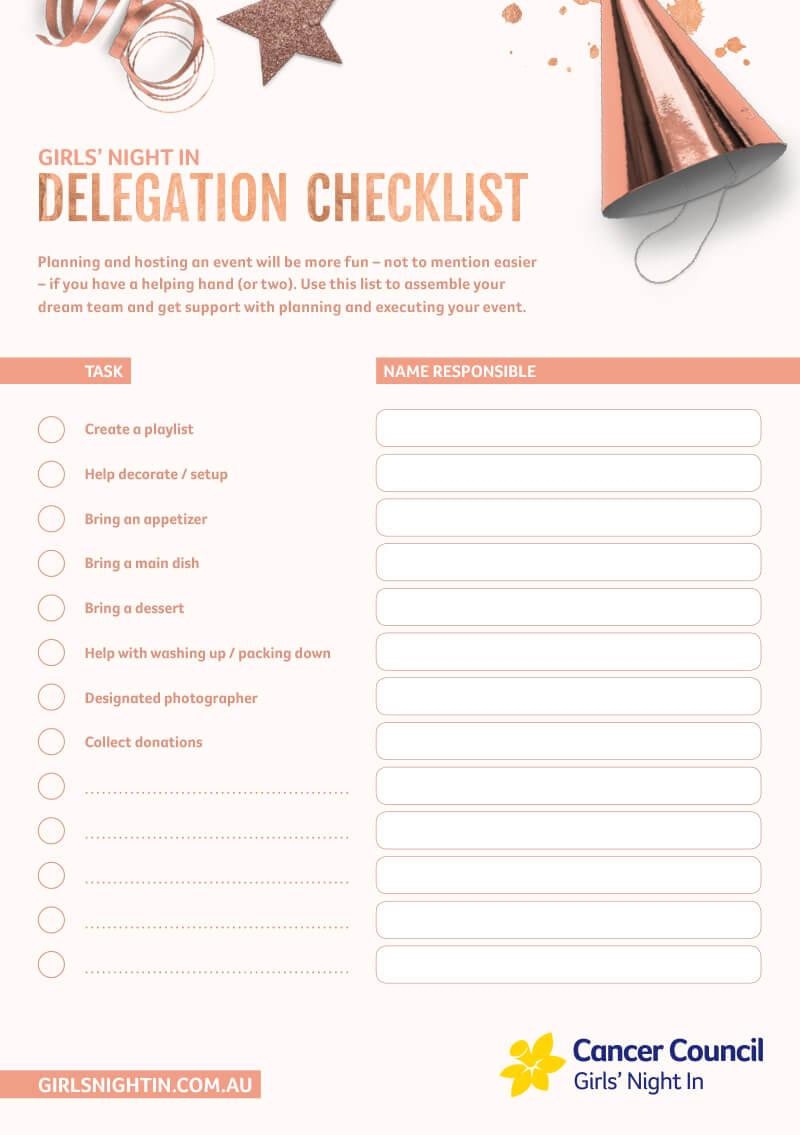 GNI Delegation Checklist